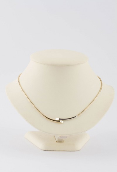 Wit/geel gouden Le Chic collier